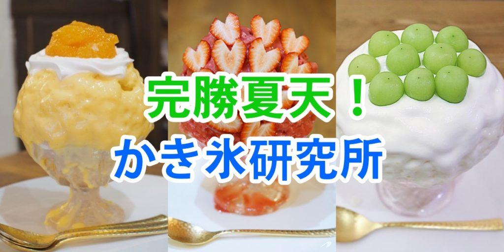 夏天必吃夢幻逸品!大阪刨冰研究所新鮮水果刨冰