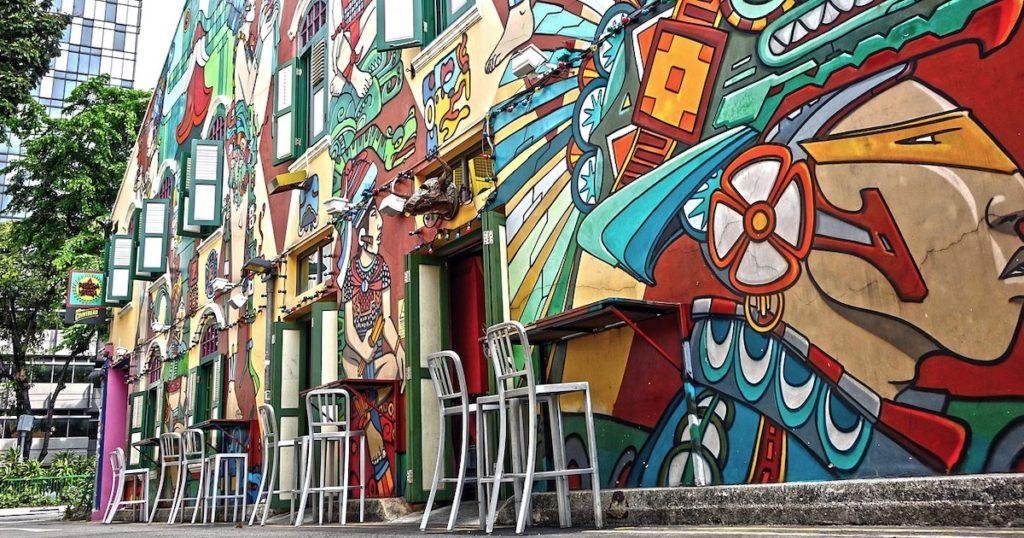 【新加坡 哈芝巷】漫步在色彩繽紛的藝術街道