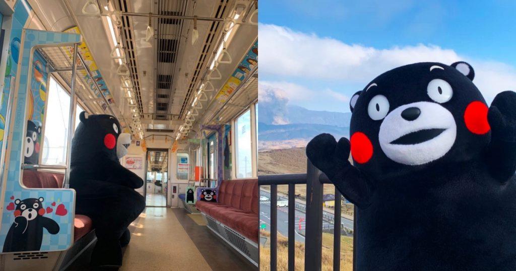 日本最人氣吉祥物熊本熊部長,陪你搭彩繪列車玩熊本